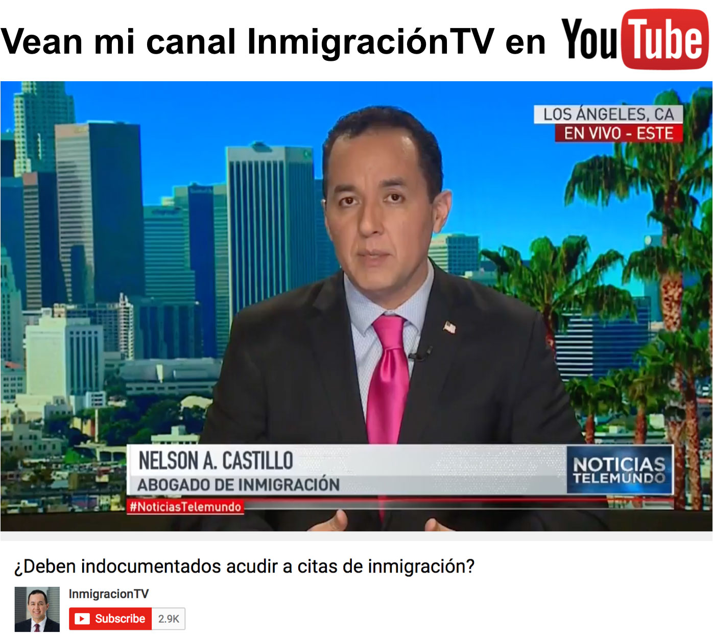 InmigracionTV YouTube