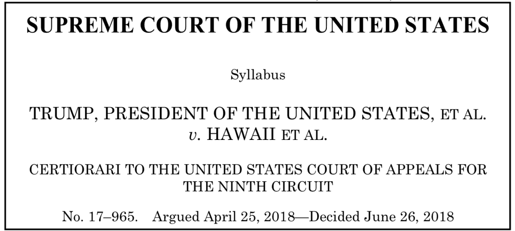 Supreme Court decision heading