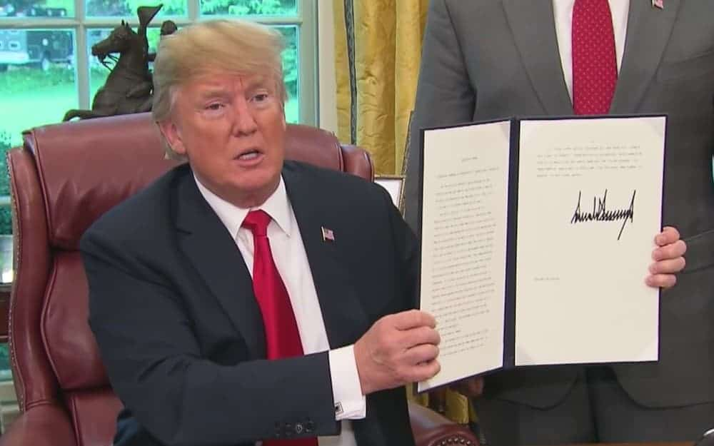 orden ejecutiva Trump