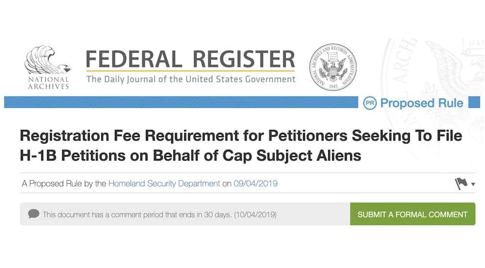 Requisito de Tarifa de Registro para Peticionarios de visas H-1B