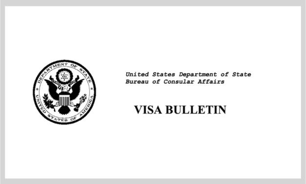 Publican Boletín de Visas para diciembre del 2019
