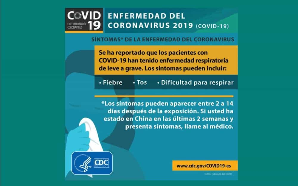 COVID-19 sintomas CDC