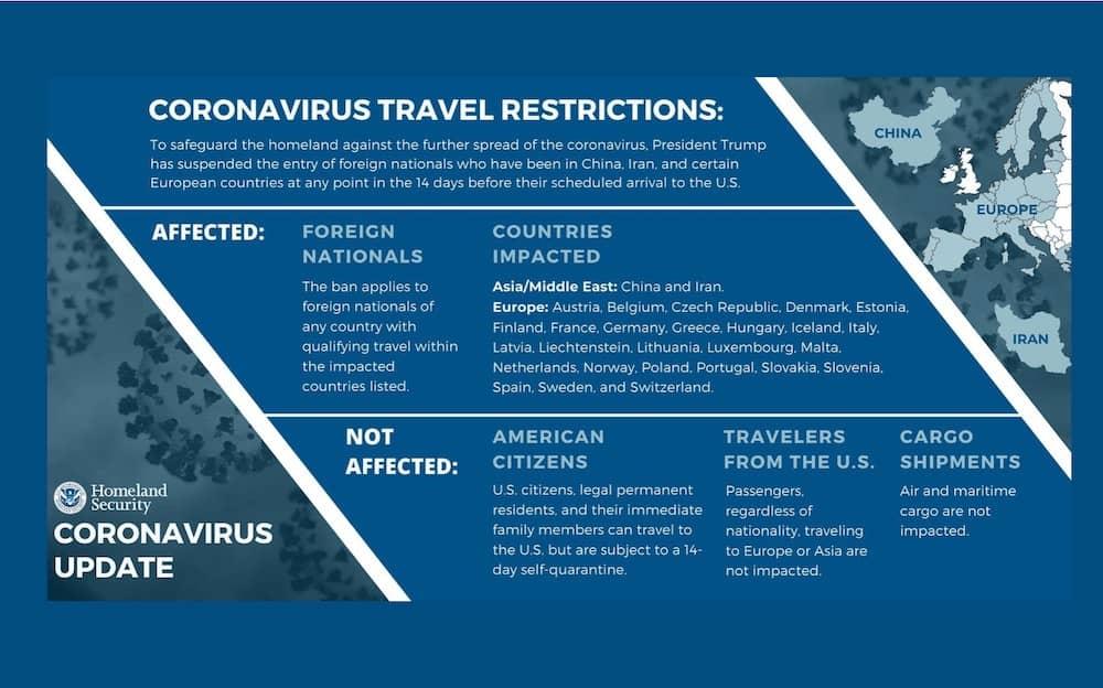 Comienza suspensión de ingreso de europeos a Estados Unidos por COVID-19