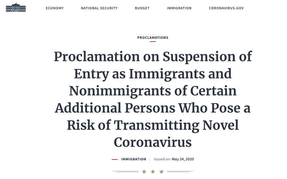 Comienza suspensión de ingreso a Estados Unidos a extranjeros procedentes de Brasil por COVID-19