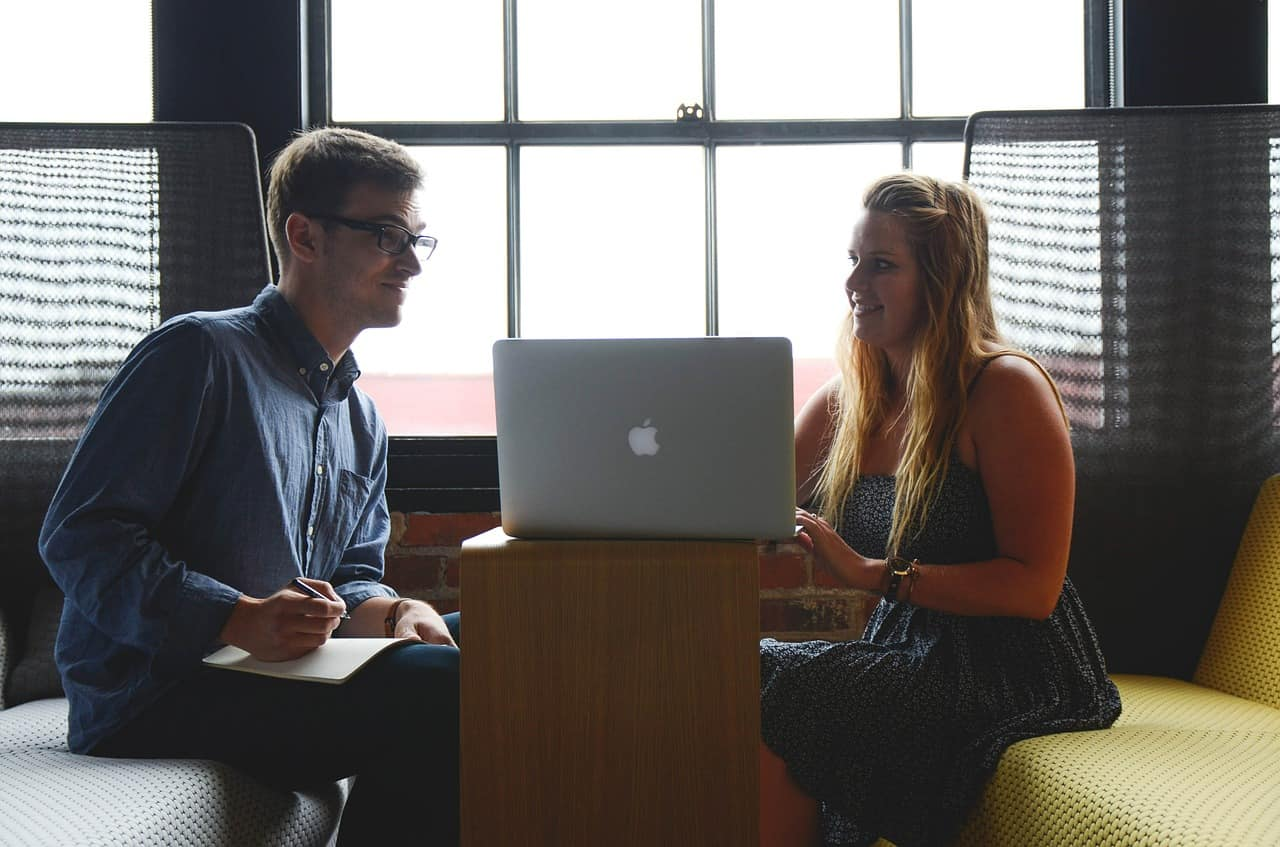 entrepreneurs woman and man