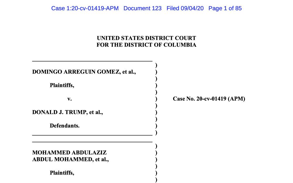 Gomez v. Trump Lotería de Visas