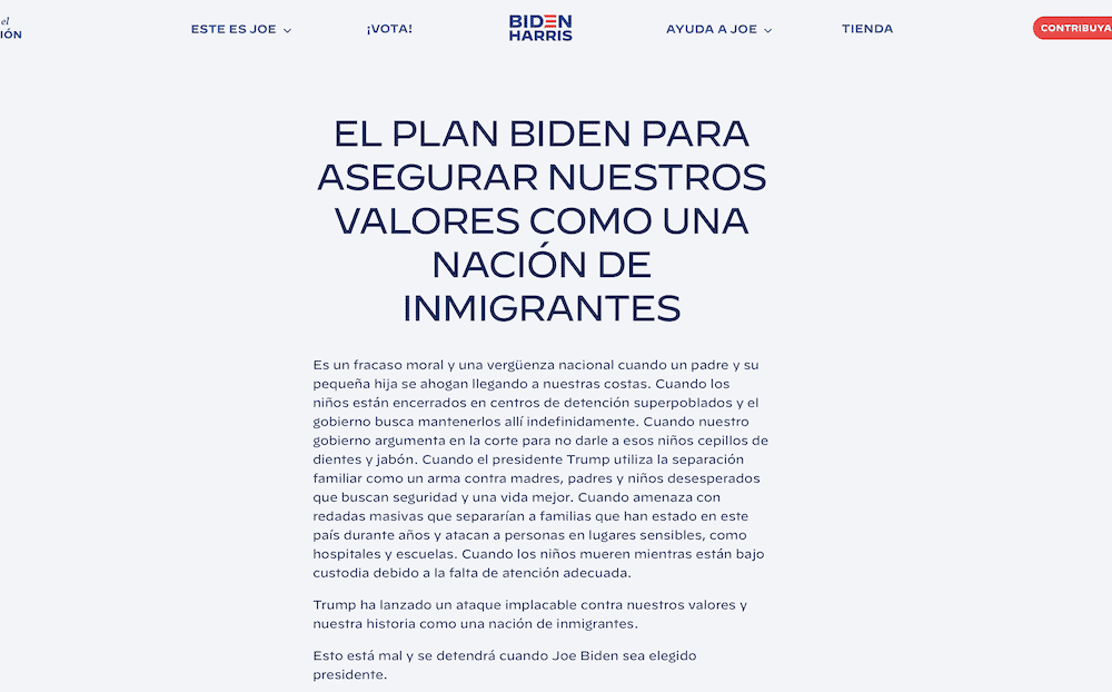 Plan Migratorio de Biden
